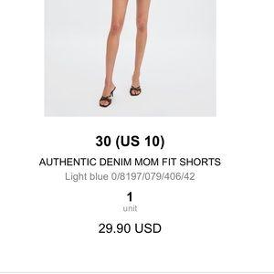 Zara Shorts - ZARA mom Rolled Jean shorts *NEVER WORN*